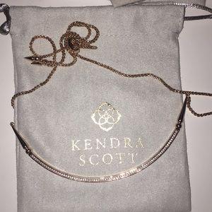 Rose gold Scottie necklace